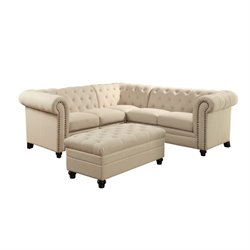 Coaster Roy Button Tufted Sectional 500222-268