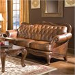Coaster Vienna Classic Brown Leather Sofa