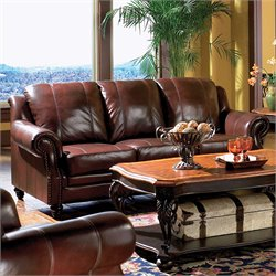 Coaster Princeton Leather Sofa