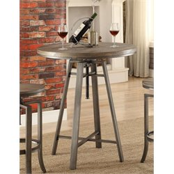 Coaster Corkscrew Round Adjustable Pub Table in Nutmeg