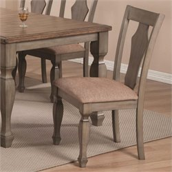 Coaster Riverbend Dining Chair in Wheat and Antique Gray