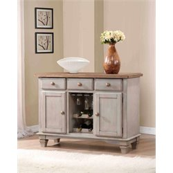 Coaster Riverbend Two Tone Wine Rack Server in Wheat and Gray
