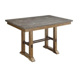 Coaster Willowbrook Bluestone Top Counter Height Table in Ash