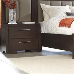 Coaster Berkshire 2 Drawer Nightstand in Bitter Chocolate