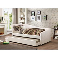 Coaster Twin Daybed with Trundle in Ivory
