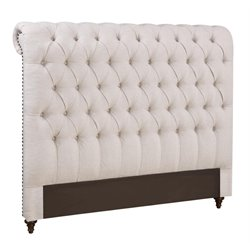 Coaster Botton Tuft Headboard in Dark Brown