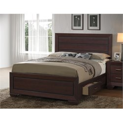 MER1219 Coaster Fenbrook Panel Bed with Storage in Dark Cocoa