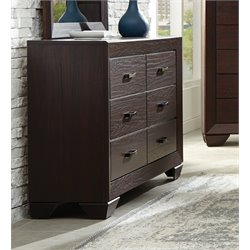 Coaster Fenbrook 6 Drawer Dresser in Dark Cocoa