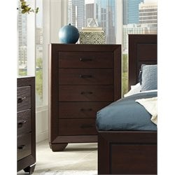 Coaster Fenbrook 5 Drawer Chest in Dark Cocoa