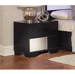 Coaster Havering Dovetail Nightstand in Black and Sterling