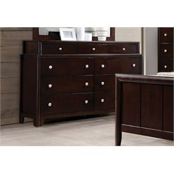 Coaster Maddison 9 Drawer Dresser in Dark Merlot
