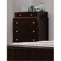 Coaster Maddison Dovetail Drawer Chest in Dark Merlot