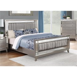 MER1219 Coaster Leighton Panel Bed in Mercury