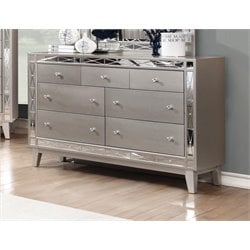 Coaster Leighton 7 Drawer Dresser in Mercury