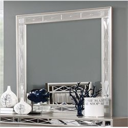 Coaster Leighton Beveled Mirror in Silver