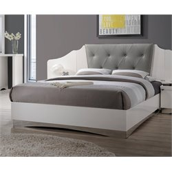 MER1219 Coaster Alessandro Bed in Dark Gray and White