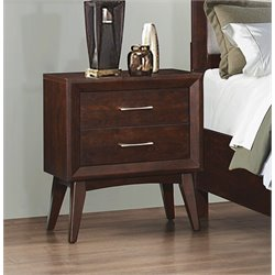 Coaster Carrington 2 Drawer Nightstand in Coffee