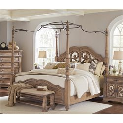 MER1219 Coaster Ilana Mirror Back Bed in Cream