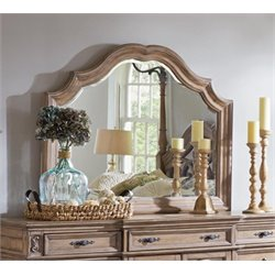 Coaster Ilana Wood Frame Mirror in Antique Linen