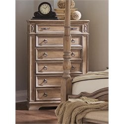 Coaster Ilana 6 Drawer Chest in Antique Linen
