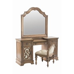 Coaster Ilana 3 Drawer Bedroom Vanity in Antique Linen