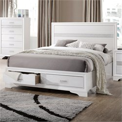 MER1219 Coaster Miranda Panel Bed with Storage in White