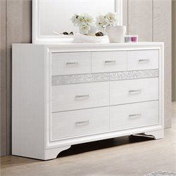 Coaster Miranda 7 Drawer Dresser in White