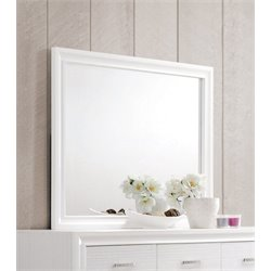 Coaster Miranda Wood Frame Mirror in White