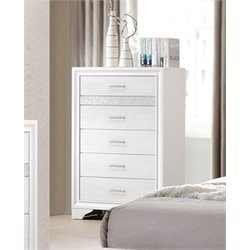 Coaster Miranda 5 Drawer Chest in White