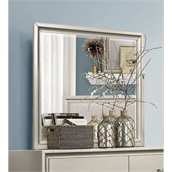 Coaster Lana Wood Frame Mirror in Silver