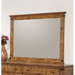 Coaster Brenner Wood Frame Mirror in Natural and Honey