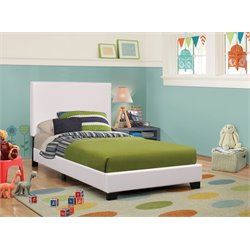 MER1219 Coaster Platform Bed in White