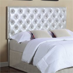 MER1219 Coaster LED Lights Headboard in Silver
