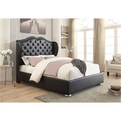 MER1219 Coaster Wingback Bed in Black