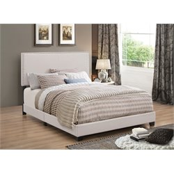MER1219 Coaster Nailhead Trim Bed in Fog