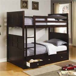 Coaster Jasper Twin Bunk Bed in Cappuccino