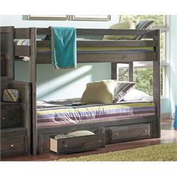 MER1219 Coaster Wrangle Hill Youth Bunk Bed in Gun Smoke