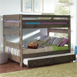 Coaster Wrangle Hill Youth Bunk Bed in Gun Smoke