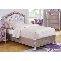 MER1219 Coaster Caroline Tufted Bed in Metallic Lilac