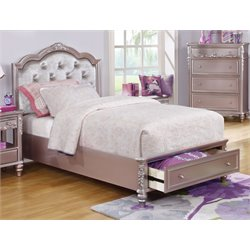 MER1219 Coaster Caroline Bed with Storage in Metallic Lilac
