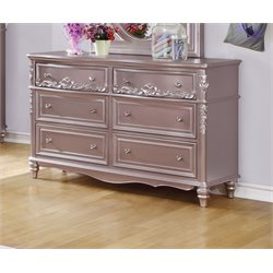 Coaster Caroline 6 Drawer Dresser in Metallic Lilac