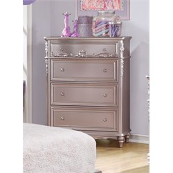Coaster Caroline 4 Drawer Chest in Metallic Lilac
