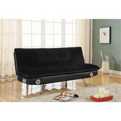 Coaster Convertible Sofa in Black