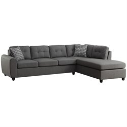 Coaster Stonenesse Contemporary Right Facing Sectional in Gray
