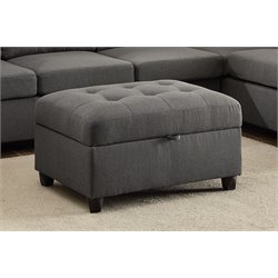 Coaster Stonenesse Storage Ottoman in Gray