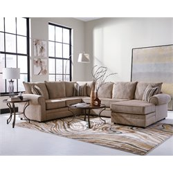 Coaster Fairhaven Left Facing Sectional in Cream