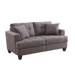 Coaster Samuel Tufted Loveseat in Charcoal
