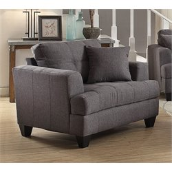 Coaster Samuel Tufted Chair in Charcoal