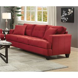 Coaster Samuel Sofa in Crimson