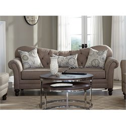Coaster Carnahan Tufted Back Sofa in Camel